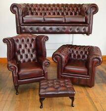 Chesterfield leather suite made in England 3 colours