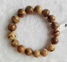 12MM Nice Round Natural Agalwood Beaded Wood Bracelet For Cool Fashion Man