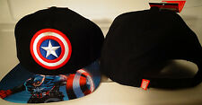 Captain America Marvel Comics Sublimated Bill Snap Back Hat Nwt