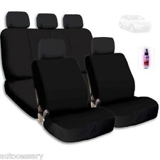 New Black Cloth Car Seat Covers Support Split Rear Seat With Gift For Ford