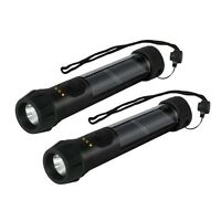 2 PK Solarlite Hybrid Solar LED Bright Waterproof Flashlight with Backup Battery