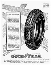 PUBBLICITA' GOMME PNEUMATICI GOOD YEAR BALLON ALL WEATHER TREAD BATTISTRADA 1927