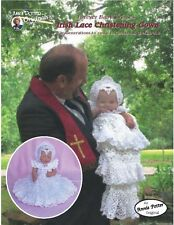 Crochet Irish Christening Gown crochet baby dress pattern by Annie Potter