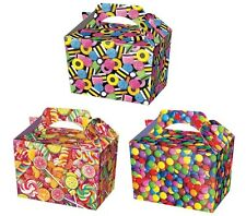 12 Candy Sweet Treat Boxes ~ Party Food Lunch Box ~ Pick N Mix Sweetie Lollypop