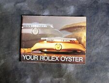 Rolex 'Your Rolex Oyster' Watch Booklet, 1985 Swiss.