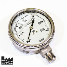 Wika Liquid Filled Glycerin Gauge 0-600 psi 316 SS Tube and Connection