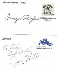 1961-70 Jerry Hill Baltimore Colts Football Signed Index Card Wyoming