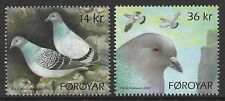 Faroe Islands Sc# 520-21 2009 VF Mint NH Set Rock Pigeons