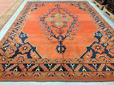 1950-1960s Vintage 7x9ft Multi-Colored Pakistani-Afghan  Wool Pile Area Rug