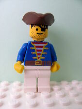 LEGO Minifig pi009 @@ Pirate Blue Jacket, Triangle Hat 6257 6260 6270 6285