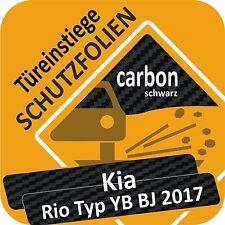 für Kia Rio 4 Typ YB Tür Einstiege Schweller Trittschutz Lackschutzfolie 160µm