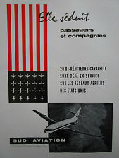 7/1962 PUB SUD AVIATION CARAVELLE AIRLINER UNITED AIRLINES ORIGINAL FRENCH AD