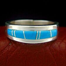Wilber Musket Navajo Sterling Silver Turquoise Ring Size 9.5   --- R76 F T