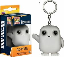 "EXCLUSIVE DOCTOR WHO GLOW IN THE DARK ADIPOSE POP KEYCHAIN 1.5"" VINYL FIGURE"