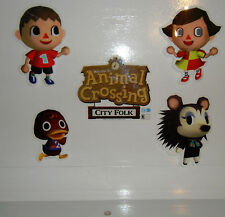 ANIMAL CROSSING CITY FOLK Nintendo STORE PROMO Window/Wall DISPLAY Sticker Set