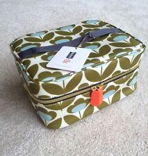 NWT Orla Kiely Meadow Flower Print Beauty Cosmetic Train Case Bag