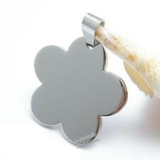 Wholesale 5pcs Super 316L Stainless Steel Army Dog Tags Flower Shape Pendants