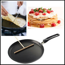 Pancake Crepe Frypan Non Stick 24cm Pan With Wooden Batter Dispenser Spreader