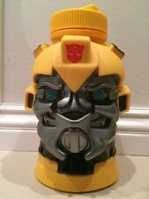 Transformers Bumblebee Water Container Bottle With Straw Universal Studios