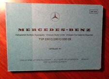 Mercedes W123 Coupe Teilekatalog parts catalog W 123 280CE 280 C CE 230 C