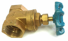 "BRASS GATE VALVE 1"" THREADED FEMALE NPT 200 WOG"