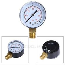 "Pool Spa Filter Water Pressure Gauge 0-60 PSI Side Mount 1/4"" Inch Pipe Thread"