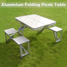 Aluminium Folding Portable Picnic Outdoor Camping Set Table & 4 Chairs BBQ Party