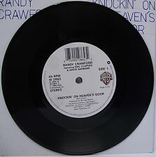 "RANDY CRAWFORD : KNOCKIN ON HEAVEN'S DOOR 7"" Vinyl Single VG+ Eric Clapton"