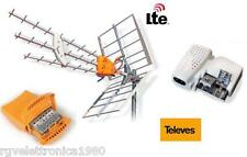 KIT ANTENNA TERRESTRE TELEVES DATHD 790LTE+AMPLIFICATORE 2IN+ALIMENTATORE 2 OUT