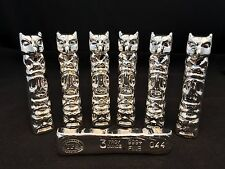 "3oz YPS ""Totem Pole"" 999+ fine silver bullion bar ""Yeager's Poured Silver"""
