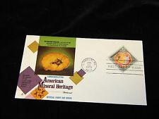 Vintage FDC, LINCOLN, NEBRASKA,NE,Commemorating USA Minerals,Petrified Wood,1974