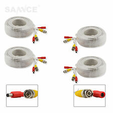 4X 30M BNC Extension Lead Video Power Cable DC Security CCTV Camera DVR White
