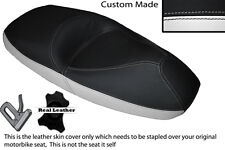 WHITE & BLACK CUSTOM FITS HONDA PANTHEON FES 125 03-07 DUAL LEATHER SEAT COVER