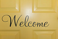 Welcome front door / hall decal sign sticker for home decor office work unique