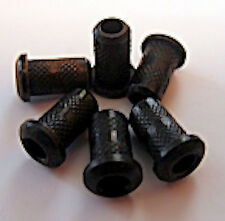 Guitar Parts - SET of 6 - BUSHINGS FERRULES - BLACK - Top