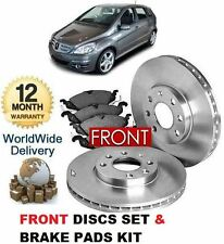 PER MERCEDES B-CLASS B180CDi B200 CDi ANTERIORE BRAKE DISCS SET AND DISC