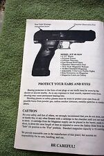 HI POINT JCP 40 S&W PISTOL Owners Instruction Sheet Manual, Tri-fold layout