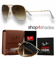 Ray Ban Folding Aviator Unisex Sunglasses GOLD_GRADUATED BROWN 3479 001/51 58mm
