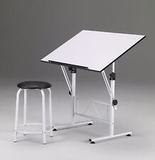 Drafting / Drawing / Hobby / Art / Craft Table Desk | Scrapbooking | WITH STOOL