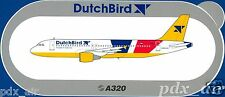 DUTCHBIRD CHARTED AIRLINE NETHERLANDS AIRBUS A320 STICKER