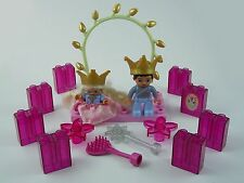 Duplo (Lego)  Prince & Princess with Crowns, Brush, Wand, Arch & Glitter Bricks