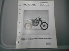 Honda Factory Set-Up Instructions & Pre-Delivery Dealer Manual 1997 XR250R 0274