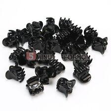24 Pinze Morsetti Nero Plastica Mini Fermagli per Capelli Uomo Donna 20x19x16mm