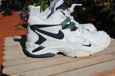 Vintage Nike Air Cross Training White Emerald Green Black Size 7.5 FREE SHIPPING