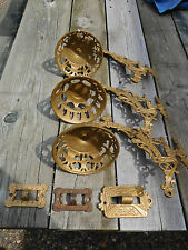VINTAGE OIL LAMP WALL BRACKET HOLDERS B & H 1891 PATENT SET OF THREE 3