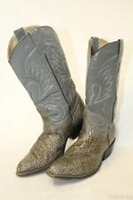 Custom Made Mens 9 D Tall Snakeskin & Leather Western Cowboy Boots jx