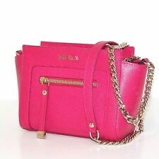 FURLA GINEVRA SAFFIANO LEATHER MINI CROSSBODY BAG GLOSS NEW $328