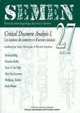 Critical discourse analysis Michael Billig  Veronika Koller  Teun A. Van Dijk et