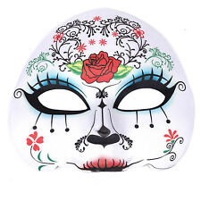 "Women's Day Of The Dead Halloween Sugar Skull Half Face Eye Mask - ""Maria"""