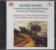 MENDELSSOHN - Concerto for violin, piano and strings - CD 1998 SIGILLATO SEALED